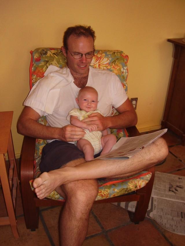 sitting w daddy