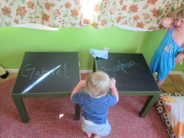 chalkboard tables (2)