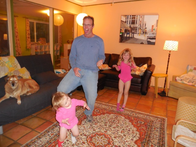 family dance party - air guitar
