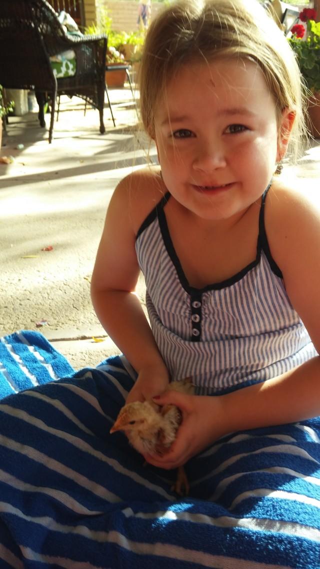 my niece Sedona, holding Beatrice