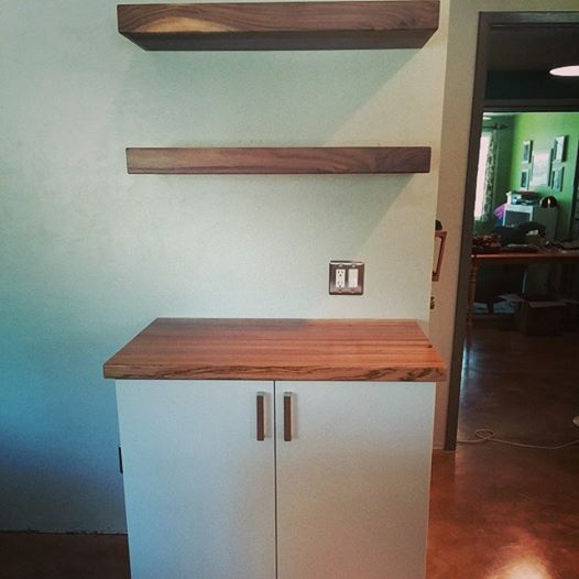 counter top and shelves