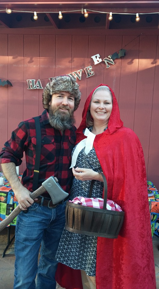 best couple costume: the Huntsman & Red Riding Hood